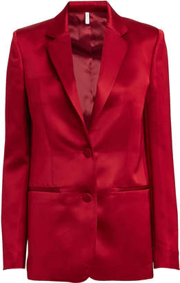 Helmut Lang Heavy Satin Tailored Blazer