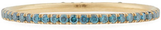 Dominique Cohen 18k Yellow Gold Blue Diamond Stacking Ring, Size 7