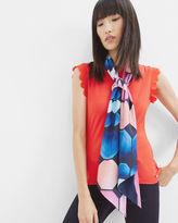 Ted Baker Marina Mosaic skinny scarf