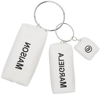 MM6 MAISON MARGIELA White Keyring Pouch Set