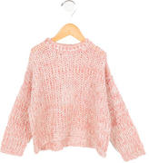Morley Girls' Open Knit Crew Neck Sweater w/ Tags