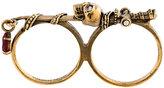 Alexander McQueen skull sword double band ring
