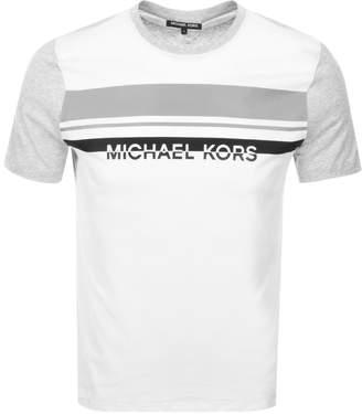 Michael Kors Colourblock Logo T Shirt Grey