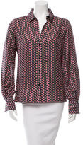 Elizabeth and James Printed Button-Up Top