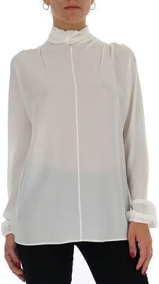 Prada Sheer High-Neck Blouse
