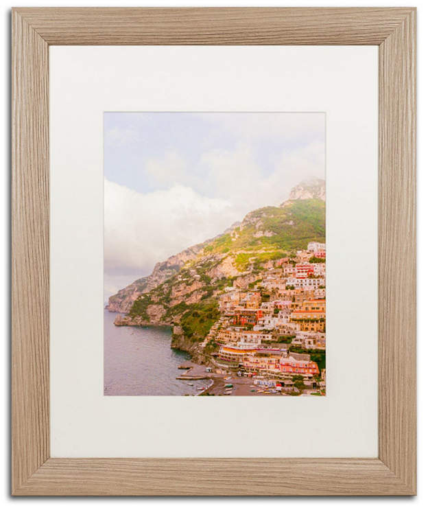 "Ariane Moshayedi 'Positano Amalfi Coast 3' Matted Framed Art - 16"" x 20"""