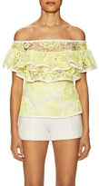 Alexis Crista Lace Tiered Flare Top