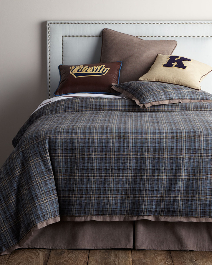 "Horchow French Laundry Home ""Kevin"" Bed Linens with Sport Accents"
