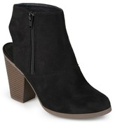 Women's Journee Collection Tay Faux Suede Cut-Out Heel Booties