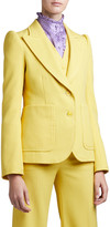 Marc Jacobs Runway) Fitted Puff-Sleeve Blazer