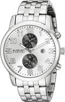 August Steiner Men's AS8175SS Analog Display Swiss Quartz Watch