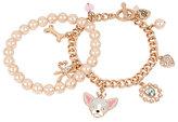 Betsey Johnson Betsey Gifting Charmy Pink Pearl Bracelet Set