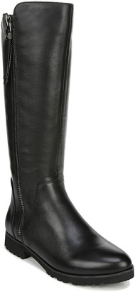 Naturalizer Leather Wide-Calf Mid-Shaft Boots -Gael