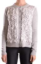 Elisabetta Franchi Women's Grey Wool Cardigan.
