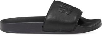 Heron Preston Logo Leather Slide Sandals