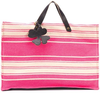 Danielapi Striped Top-Handle Tote