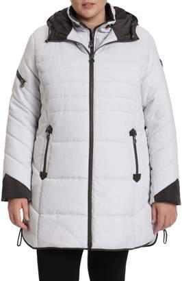Northside Toni Plus Plus Featherloft-Trim Hooded Coat