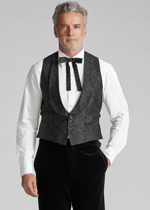 Ralph Lauren Jacquard Tuxedo Vest