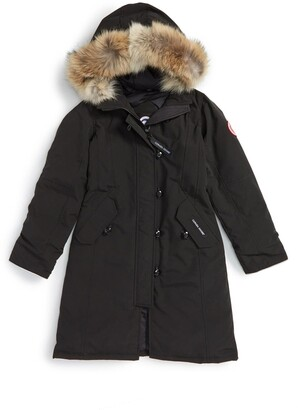 Canada Goose 'Brittania' Down Parka with Genuine Coyote Fur Trim