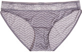 Calvin Klein Underwear Modern Signature low-rise lace-trimmed stretch-satin briefs