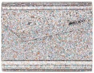 Jimmy Choo Candy glow-in-the-dark glitter clutch bag
