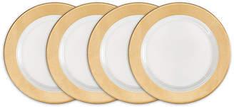 Q Squared Moonbeam Ring Gold Melamine 4-Pc. Salad Plate Set