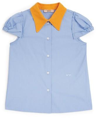 N°21 N21 Kids Contrast Collar Shirt