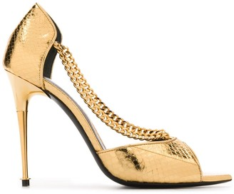 Tom Ford Chain Strap Metallic Pumps