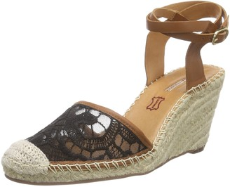 Buffalo London 127103 RENDA Womens Wedge Heel Ankle Strap Sandals
