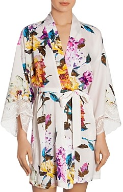 Jonquil In Bloom by Floral Print Wrap Robe