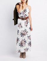 Charlotte Russe Floral Ruffle-Trim Maxi Dress