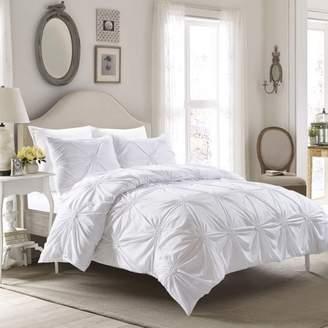 Style Quarters Elise Comforter Set White-Machine Washable - Includes 1 Comforter + 2 Shams - King