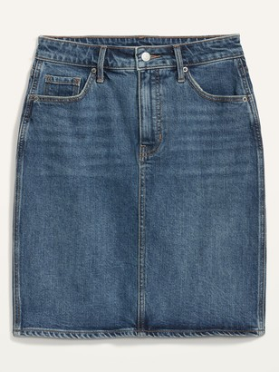 Old Navy Extra High-Waisted Jean Skirt for Women
