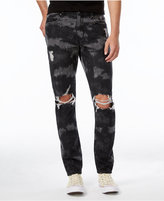 Jaywalker Men's Tye-Dye Slim-Fit, Tapered Ripped Jeans, Only at Macy's