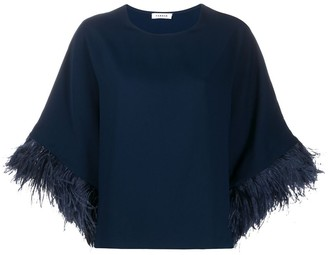 P.A.R.O.S.H. Feather Trim Top