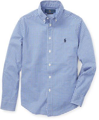 Ralph Lauren Kids Poplin Woven Gingham Sport Shirt, Size S-XL