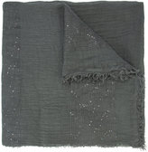 Fabiana Filippi sequinned detail scarf - women - Cotton/Linen/Flax/Polyester - One Size