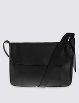 M&S Collection Leather Soft Messenger Bag