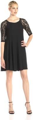 Julian Taylor Women's 3/4 Lace Sleeve Aline Dress