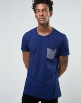 Benetton T-Shirt with Contrast Knitted Pocket