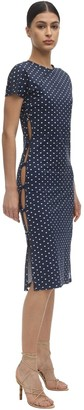 MARCIA Polka Dot Econyl Dress W/ Open Sides