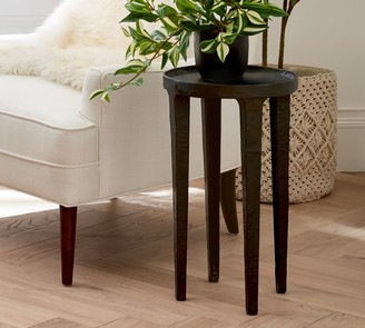 """Pottery Barn Jamie 12"""" Round Metal Accent Table"""