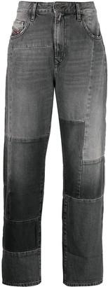 Diesel Wide-Leg Cropped Jeans