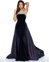 Mac Duggal Couture - 62572 Velvet Strapless Overskirt Evening Gown