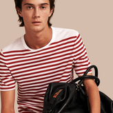 Burberry Striped Cotton T-shirt