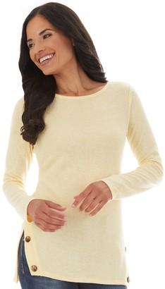 Apt. 9 Petite Fuzzy Side-Button Tunic Sweater