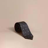 Burberry Modern Cut Polka Dot Silk Tie