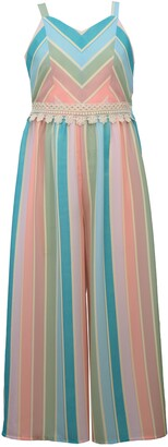 Iris & Ivy Kids' Miter Stripe Jumpsuit