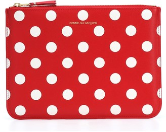 Comme des Garcons Dots Large leather pouch