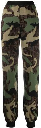 Moschino Camouflage Intarsia-Knit Track Pants